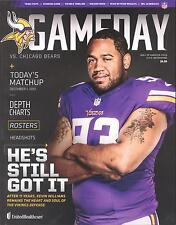 Minnesota Vikings Chicago Bears NFL GameDay Program 12/1/13...Kevin Williams