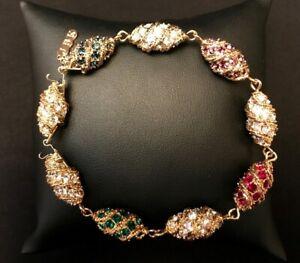 Jacqueline Kennedy Royal Color Egg Bracelet NEW