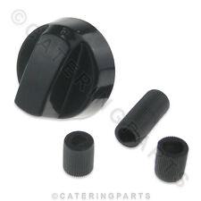 KN18 BLACK UNIVERSAL DOMESTIC APPLIANCE CONTROL KNOB KIT MULTI FIT PLASTIC 41mm