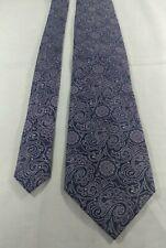 "Jos A Bank Mens Blue Purple Paisley Pattern Silk Neck Tie 63"" 3.5"""