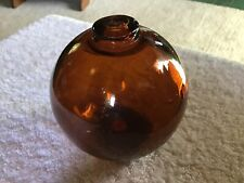 "Vintage 3.5"" Inch Dark Amber Northwest Glass Company Fish Float"
