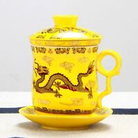 NEW Chinese Dragon Ceramic Porcelain Tea Cup Coffee Mug with Infuser&lid&saucer