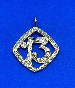 14K Yellow Gold Number 13 Charm Charm or Pendant