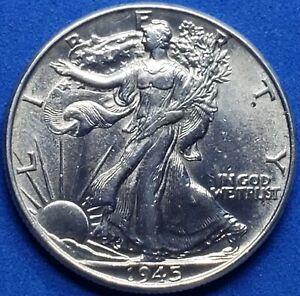 ●《☆♡☆》1945-P Liberty Walking Silver Half Dollar, Choice Uncirculated, 50C Hot!
