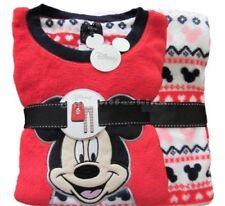 Ladies Fleece Pyjamas Disney Mickey Mouse Women's PJ Set Large 14/16 Primark