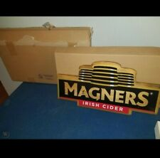 Magners Irish apple Vermont Cider Led Light up back bar wooden sign new
