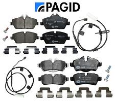 Front Brake Pads & Rear Brake Pads + Sensors OEM Pagid Mini Cooper Base 11-15