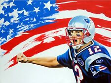 Tom Brady Flag Poster - POSTER 24x36
