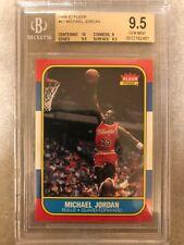 1986 Michael Jordan Fleer #57 Rookie RC BGS 9.5 GEM MINT 10 centering