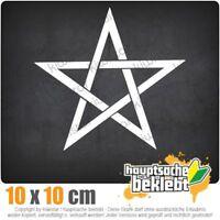 Pentagramm 10 x 11 cm JDM Decal Sticker Auto Car Weiß Scheibenaufkleber