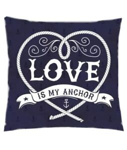 Love Is My Anchor Cushion Cover