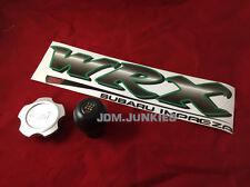 JDM WRX STi 5 Speed Shift Knob Oil Cap Sticker Combo Subaru Impreza