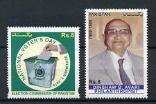 Pakistan 2016 MNH National Voters Day & Dinshaw B Avari 2v Set Stamps