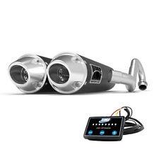 HMF Performance Dual Full System Exhaust Black Euro End Cap + EFI Maverick X3
