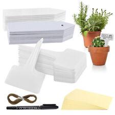 Waterproof Plastic Plant Labels Tags Markers Garden Nursery Herbs Flowers 150pc