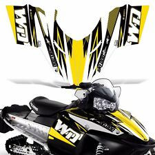 Sled Wrap for Polaris Shift Dragon RMK Graphic Snow Decal Kit Snowmobile WD YLW