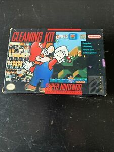 Official SNES Cleaning Kit - SUPER NINTENDO - Authentic - Box and Manual