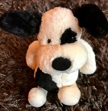 jellycat small black and cream bashful puppy