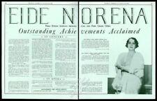 1936 Eide Norena photo opera recital Usa tour trade booking ad