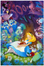 Disney Fine Art Limited Edition Canvas Dreaming In Color-Alice In Wonderland