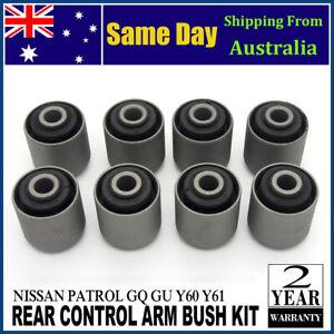 Rear Upper & Lower Control Trailing Arm Bush Kit For Nissan Patrol GQ GU Y60 Y61