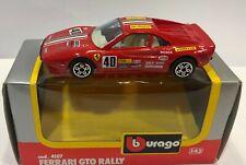 BURAGO 4107 1/43 FERRARI GTO RALLY #40  DIE CAST