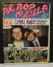 RIVISTA Be Bop a Lula anno I n.1 1986 Simple Minds in copertina Red Ronnie
