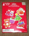 HOLIDAY STYLE FOAM CHRISTMAS STICKERS TO CREATE 6 HOLIDAY ITEMS GREAT FOR KIDS