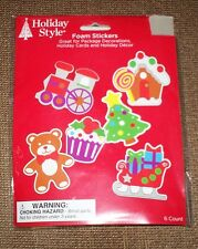 Holiday Style Foam Christmas Stickers To Create 6 Holiday Item