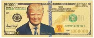 2020 TRUMP: 45th GOLD PRESIDENTIAL MILLION - .9999 GOLD FOIL Note