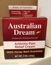 NEW Australian Dream Arthritis Pain Relief Cream 4 oz (118 g) EXP MARCH 2019