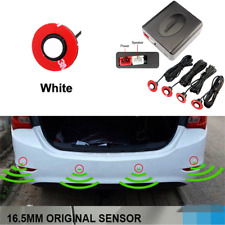 4 Sensors Parking Sensor Car Backup Reverse Radar System Alarm Kit 16mm White