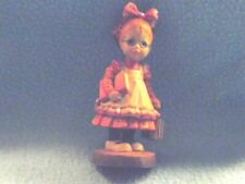 Anri Carved In Italy Off To School - 4 Inches Sarah Kaye Great Condition