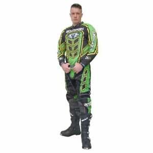 Wulfsport Adultes Axium Course Motocross MX Enduro Vélo Jersey & Pantalon - Vert