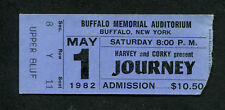 1982 Journey concert ticket stub Buffalo Steve Perry Don't Stop Believin Escape