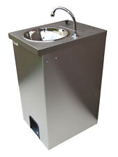 Electric Portable Sink Hot Hand Wash, St.Steel cupboard, 25 lts Foot Pump Op.