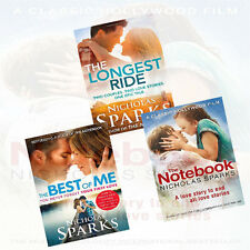 Nicholas Sparks Love Stories Collection 3 Books Set (Longest Ride,The Best Of Me