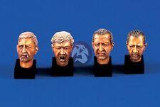 Verlinden 120mm (1/16) Bare Human Heads (4 heads) [Resin Figure Accessory] 465
