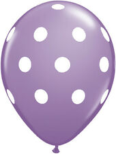 "10 pc - 11"" Qualatex Big Polka Dot Lavender Latex Balloon Party Decoration Baby"