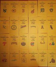 1976 Strat-O-Matic Baseball Printed Storage Envelopes with Stats and Team Logo
