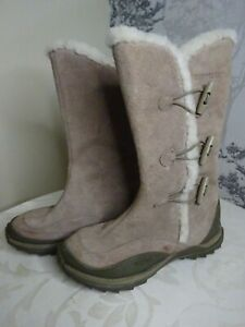 Caterpillar Boots - Size 3 -Grey Suede - Polartec Leather -Walking Hiking Boots