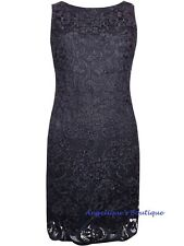 WALLIS NAVY BLUE CROCHET LACE SPECIAL OCCASION DRESS SIZE 8-16 NEW