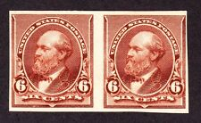 US 224P5 6c Grant Proof on Stamp Paper F-VF OG NH SCV $225 (NH)