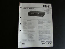 Original Service Manual Schaltplan Sony CDP-K1