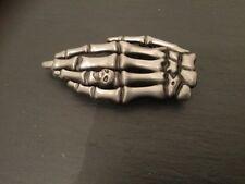 Esqueleto dedos Nueva Correa Hebilla dedos esqueleto metálico con nudillo Calavera