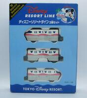 Tokyo Disney Resort Line Monorail Electric Train Tomica Tomy 3 cars boxset