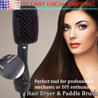 2 in 1 Multifunctional  Anion Hair Dryer Brush Styler Hairdressing Tool US Plug