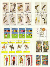 VARIOUS - HOLY ISLAND, SCOTLAND - 8  DIFFERENT MINISHEETS OF  8 STAMPS  - 1973-6