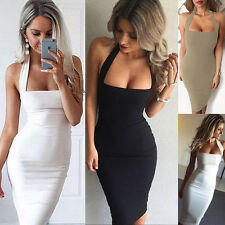 Fashion Womens Bodycon Sleeveless Party Evening Cocktail Bandage Pencil Dress
