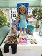 """RARE American Girl Doll """"Kailey""""Goty - 2003 Retired Boxed + Dog Sandy + New Bed"""